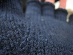 thumb gusset closeup-I just learned about the Macro function on my camera