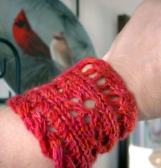 wristlet swatch for mystic light shawl