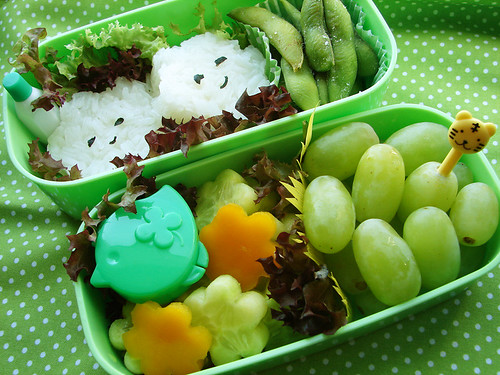 green spring bento by she.likes.cute.