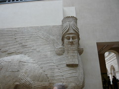 Winged bull from Dur Sharrukin /      (mitko_denev) Tags: paris france art museum ancient louvre mesopotamia lamassu assyria wingedbull neareast  lalouvre           dursharrkun