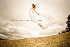 Fly (mylaphotography) Tags: wedding storm pose bride fly flying high jump jumping dress cloudy sister windy weddingdress bridal firstquality flyingbride lightroompreset mylaphotography rahislightroompresets