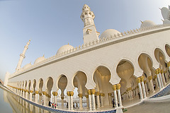 Sheikh Zayed Mosque (Faris .M) Tags: fish eye by nikon taken mosque fisheye zayed sheikh f28 d300 105mm fares