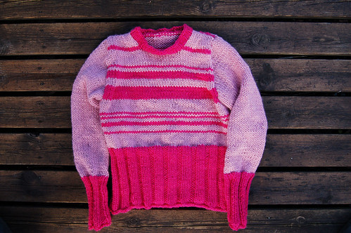 Wool sweater in pink