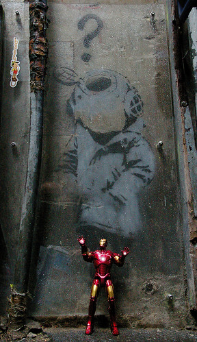 "IRON MAN:  THE MOVIE !!! -  ""TONY STARK, LAUGHING ALL THE WAY TO THE BANKSY..."""