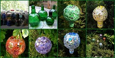 Garden decoration - Recycling challenge (stiglice - Judit) Tags: fdsflickrtoys mosaic mixedmedia unicum gardendecor