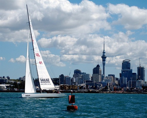 Auckland Harbor by cajaygle.