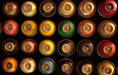 artistic photograph spray paint cans