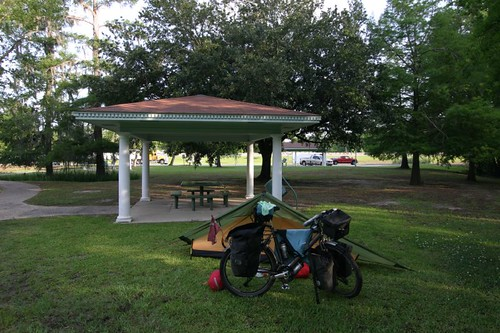 Wild camp at rest area in southwestern Louisiana.