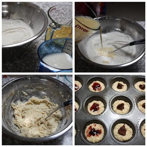 Doughnut muffin collage