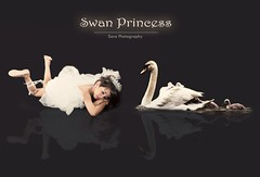 Swan Princess (Sara Abdulaziz ~) Tags: life light white cute bird love girl beautiful face look yellow canon hair studio happy photography nice swan eyes long sara child hand princess sweet good sleep soso princesss stil
