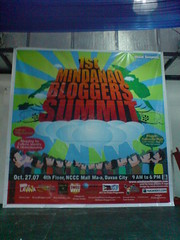 Mindanao Bloggers Summit Backdrop