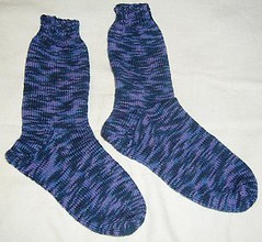 Blues and Violets Socks