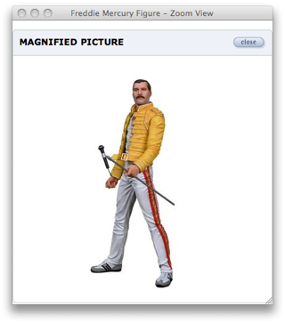 Freddy Mercury doll on Skymall Web site screengrab