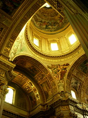 rome. inside san andrea della valle 4 (kexi) Tags: november light italy rome church yellow vertical gold nikon interior coolpix nikoncoolpix instantfave sanandreadellavalle