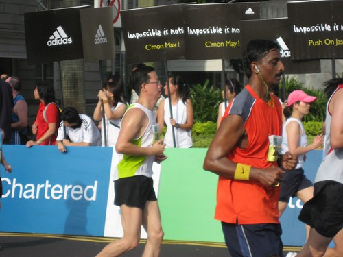 Senthil - at the Half Marathon finish line