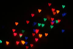 I Love You :: Holiday Bokeh (vyxle) Tags: christmas light holiday blur love dark lights aperture holidays heart mask sweet bokeh shaped magic twinkle romance christmaslights sparkle explore fairy romantic concept shape happyholidays 230 explore230