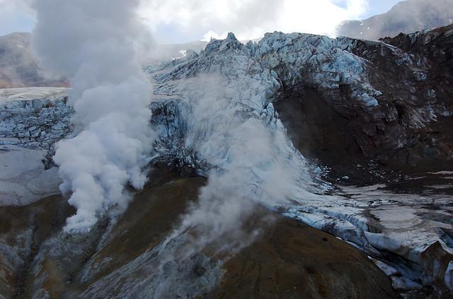 Gletscher im Mutnovsky-Krater
