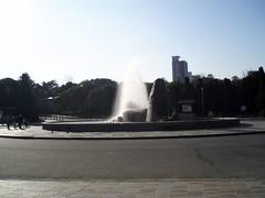大阪城公園噴水 お昼