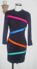 neon stripes (panache*) Tags: green vintage forsale thrift recyled