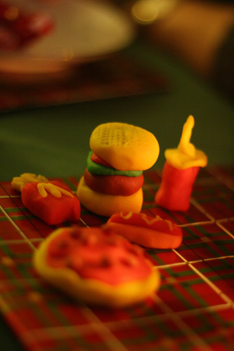 miniature fast food