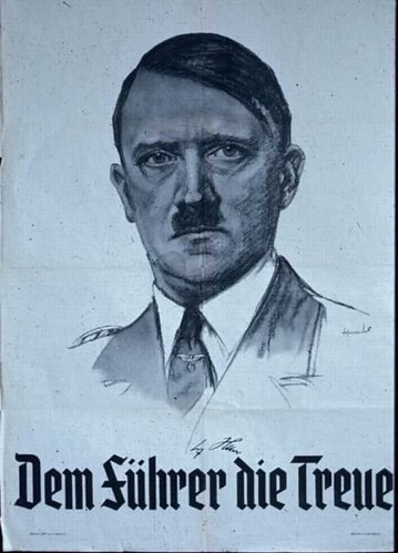 Nazi Poster - Adolf Hitler; Dem Führer by vistion. World War II - Propaganda