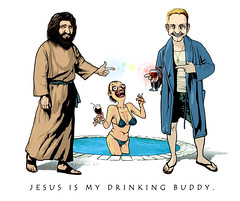 Jesus is my Drinking Buddy (Jaime Margary) Tags: jesus drinking buddy jaime margary kalapusa
