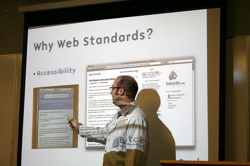 Adam Darowski presenting an Introduction to Web Development