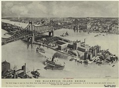 Blackwell's Island Bridge 1902 (Olde New York) Tags: newyork queensborobridge rooseveltisland blackwellsisland welfareisland