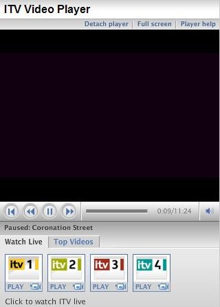 ITV video player