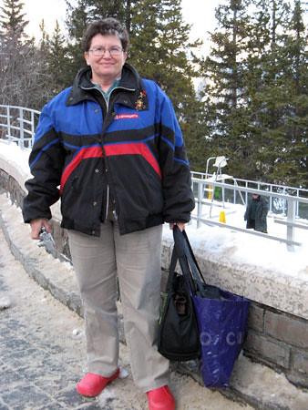 Banff hot springs and Mama