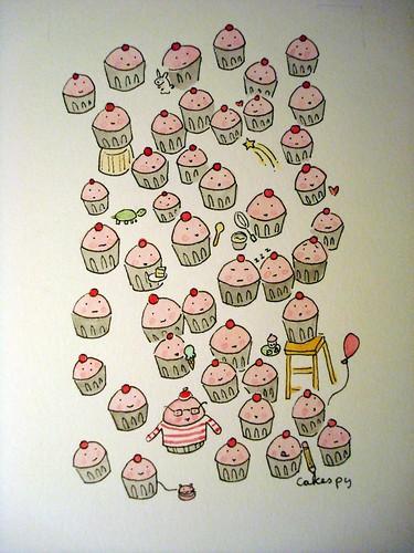 cupcake artwork by: Cakespy