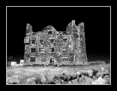 Castle Lemenagh Co Clare (Michelle in Ireland) Tags: ireland bw white black castle film oldphoto treatment coclare platinumphoto castlelemenagh