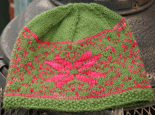 malabrigo and alpaca hat