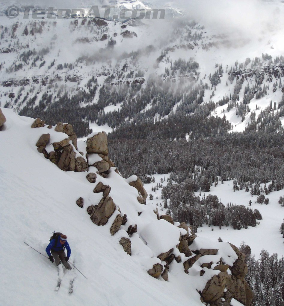 Skiing the East Cutes of Jackson Peak