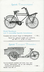 Eysink transportfiets en bakfiets 1950 (transportfiets.net) Tags: brochure 1950 advertentie bakfiets driewieler transportfiets eysink prijscourant reclamefolder transportrijwiel eijsink