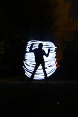 Light Silo (Kid Gibson) Tags: light colors 30 night writing canon dark rebel amber scary blurry long exposure experiment sigma silo led flashlight xsi 1770mm