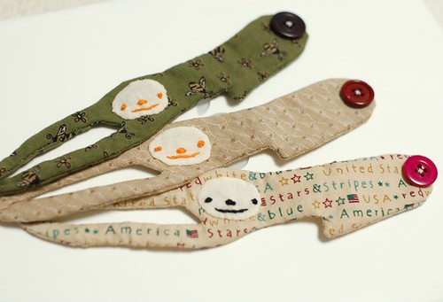 A sloth around your wrist, fabric cuff