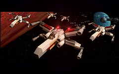 Battle Of Yavin (WampaStompa) Tags: starwars lego battle xwing yavin