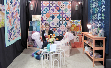 Lizzy House in her Castle at Quilt Market