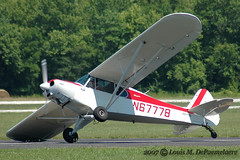 Piper PA-18A Super Cub (N6777B) (One Mile High Photography) Tags: airplane airport nikond70 aircraft aviation airshow planes arkansas allrightsreserved 1000views planespotting fayettevillear aviationphotography airshowphotography coloradophotographer tamron70300mmf456dildmacro kfyv adobephotoshopelements50 piperpa18asupercub coloradoshooter onemilehighphotography wwwomhphotoscom 2013louisdepaemelaere
