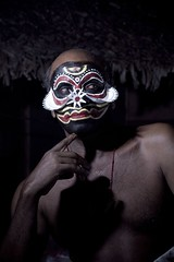 Kathakali Dancer 1 (the_steve_cox) Tags: portrait india native kerala dancer tribal facepaint bitton kathakali kovalam coxy offcameraflash strobist photoportunitycom