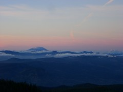 Mt. St. Helens & Mt. Ranier (kellamaste) Tags: mountain top larch