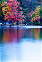 Sherando Lake - Before the Sun Came Up ([Christine]) Tags: longexposure autumn fall reflections virginia searchthebest blueridgeparkway naturesfinest flickrsbest specnature sherandolake mywinners colorphotoaward impressedbeauty superbmasterpiece