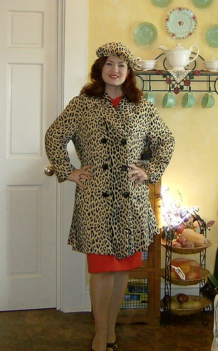 My Grandmother's coat and barrett, too big but I really don't want to alter it