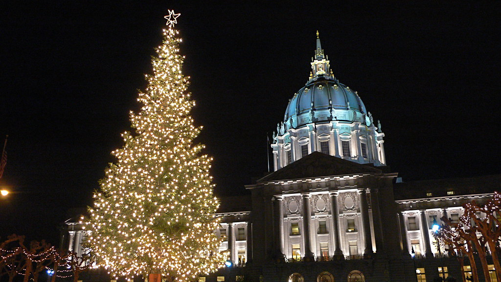 San Francisco City Hall - Holiday Lights