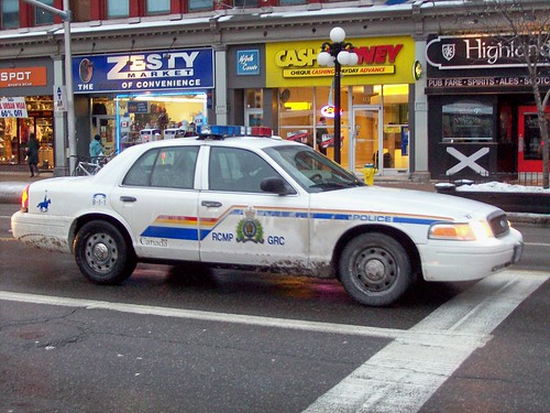 An RCMP Ford Crown Victoria Police Interceptor...