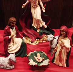 Joseph, Jesus, Mary, sheep and angel (Martin LaBar) Tags: christmas baby church angel joseph christ sheep mary jesus birth southcarolina xo stable nativityscene pickenscounty nativityset