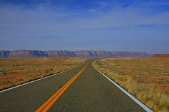 The road to Lee's Ferry. (CSC - Chistopher Scott) Tags: road arizona ferry river highway colorado indian grandcanyon roadtrip canyon midday longroad lees reservation leesferry csc csconway