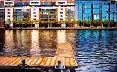 A Berth in Ringsend (wolfmanmoike) Tags: sea dublin building glass wooden photoart berth colourartaward