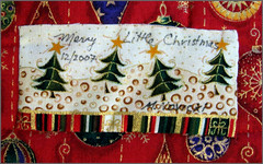 """Merry Little Christmas"" label"